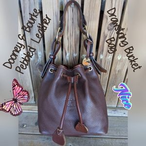 Dooney & Bourke Pebbled Leather VTG. Bucket Bag